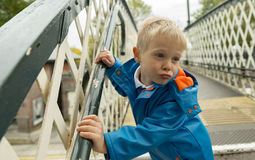 Young boy making funny face. Royalty Free Stock Photos