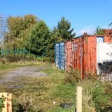 Derelict and abandoned. Old worn out storage crates Royalty Free Stock Photos