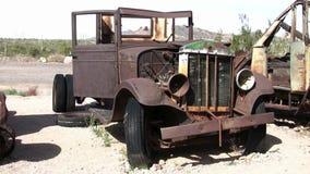 Derelict abandoned truck stock video