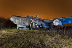 Derelict airplane Stock Photography