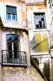 Derelict apartment homes Stock Photo