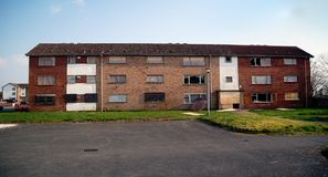 Derelict Apartments Stock Photos