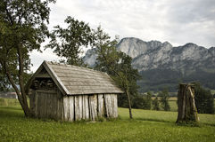 Derelict Barn. In the Austrian Alps Royalty Free Stock Photography