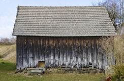 Derelict barn with rotted planks Royalty Free Stock Photos