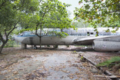 Derelict Boeing 707 aircraft in Vietnam Stock Photography