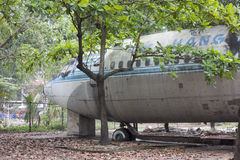 Derelict Boeing 707 aircraft in Vietnam Royalty Free Stock Photos