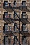 Derelict bricked up building Stock Images