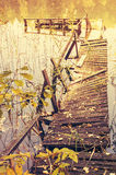 Derelict bridge Stock Images