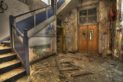 Derelict Building. Derelict Hospital Building in the UK Royalty Free Stock Image