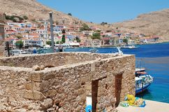 Derelict building, Halki Royalty Free Stock Images