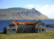 Derelict building Iceland Royalty Free Stock Photos