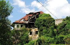 Derelict Building in Jajce Royalty Free Stock Image