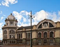 Derelict building of North Railway Station (XIX c.) in Madrid Royalty Free Stock Photography