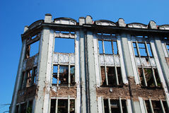 Derelict Building in Sarajevo Stock Photography