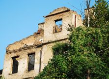 Derelict Building in Sarajevo Stock Image