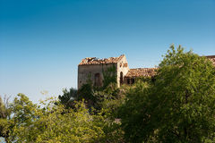 Derelict building - a typical Mediterranean scene Stock Photo
