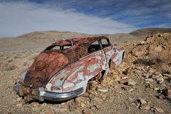Derelict car at Aguereberry Camp Royalty Free Stock Images