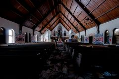 Derelict Chapel - Abandoned School - Pennsylvania stock image