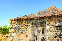 A derelict cottage in a vineyard in Tenerife Stock Photos