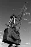 Derelict crane Stock Photo