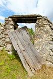 Derelict door Royalty Free Stock Photo