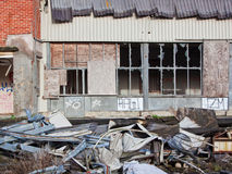 Derelict factory site UK Royalty Free Stock Images
