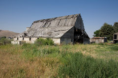Derelict farm buildings. Derelict barn and farm buildings in rural landscape royalty free stock photography