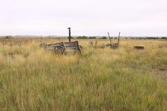 Derelict farm equipment. On an early frontier South Dakota homestead Royalty Free Stock Photos