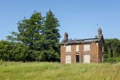 Derelict farm house in Cheshire UK Stock Image