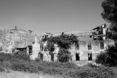 Derelict farmhouse in Antequera, Spain Stock Photography