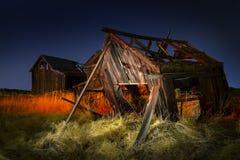 Derelict fishing shacks Stock Image