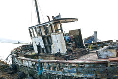Derelict fishing trawler Stock Image