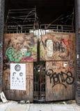 Derelict Graffiti doorway Royalty Free Stock Images
