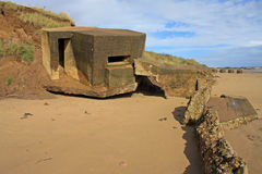 Derelict gun emplacement Royalty Free Stock Images