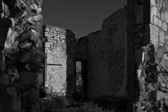 Derelict Hospital, in Black & White(Grunge). royalty free stock photo