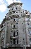 Derelict hotel in central Bucharest, Romania Stock Photos