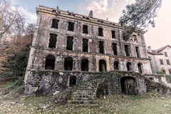 Derelict hotel at Vizzavona in Corsica Royalty Free Stock Photos
