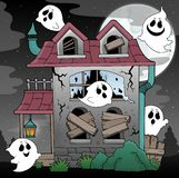 Derelict house and ghosts theme 2 Royalty Free Stock Photo