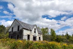 Derelict house in New Brunswick Stock Photos
