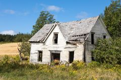 Derelict house in New Brunswick Stock Image