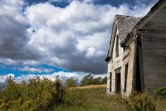 Derelict house in New Brunswick Stock Images