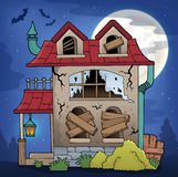 Derelict house theme image 2. Eps10 vector illustration royalty free illustration