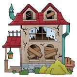 Derelict house theme image 1. Eps10 vector illustration royalty free illustration