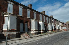 Derelict houses. In Anfield, near the soccer ground of Liverpool FC Stock Photography