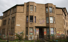 Derelict housing Stock Image