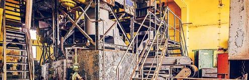 Derelict industrial do equipamento fabril Imagem de Stock