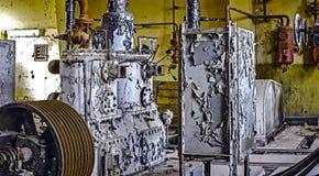 Derelict industrial do equipamento fabril fotografia de stock