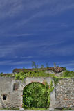 Derelict Italian Farmhouse Walls Stock Image