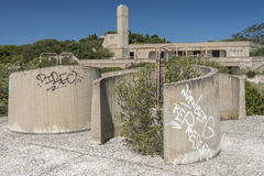 Derelict lido and swimming pools Royalty Free Stock Image