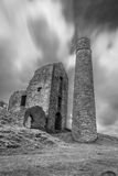 Derelict Magpie mine, abandoned lead mine in Peak District Stock Image